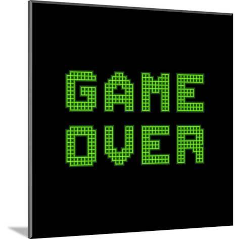 Game Over On A Green Grid Digital Display-wongstock-Mounted Art Print