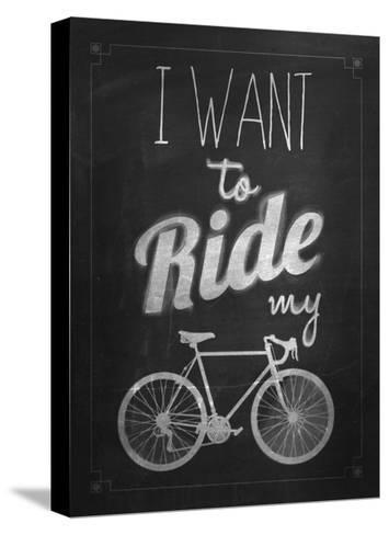 Bicycle Vintage Typographical Background-Melindula-Stretched Canvas Print