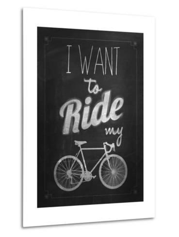 Bicycle Vintage Typographical Background-Melindula-Metal Print