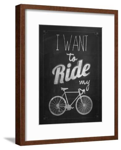 Bicycle Vintage Typographical Background-Melindula-Framed Art Print