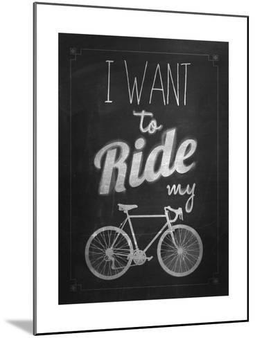 Bicycle Vintage Typographical Background-Melindula-Mounted Art Print