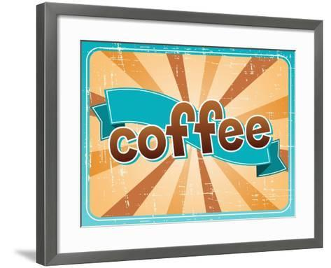 Poster With A Coffee Cup In Retro Style-incomible-Framed Art Print