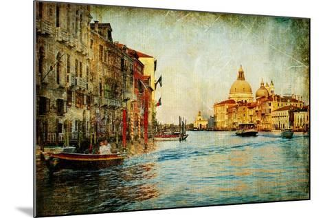 Grand Channel -Venice - Artwork In Painting Style-Maugli-l-Mounted Art Print