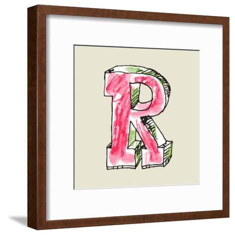 Crayon Alphabet, Hand Drawn Letter R-Andriy Zholudyev-Framed Art Print