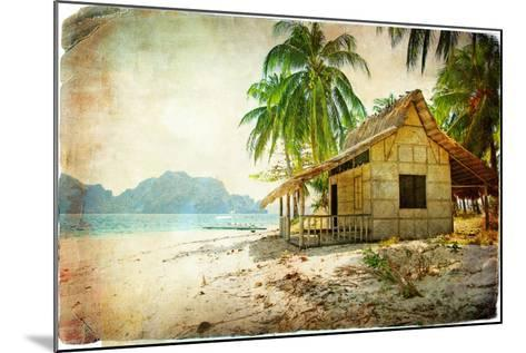 Tropical Bugalow -Retro Styled Picture-Maugli-l-Mounted Art Print