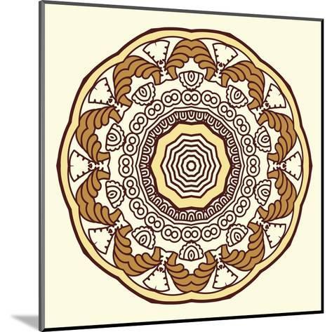 Round Decorative Design Element-epic44-Mounted Art Print