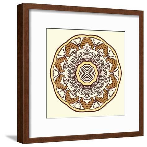 Round Decorative Design Element-epic44-Framed Art Print