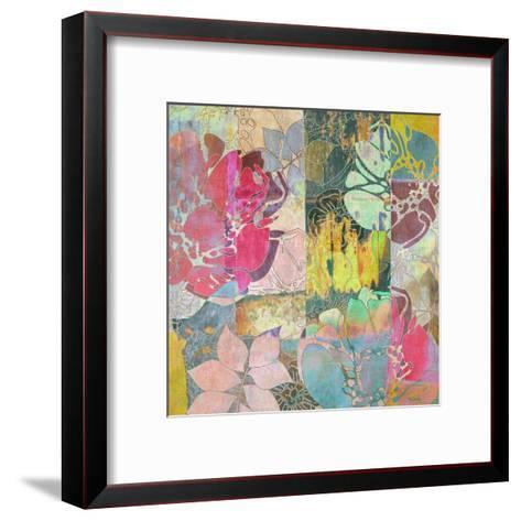 Art Floral Grunge Background Pattern-Irina QQQ-Framed Art Print