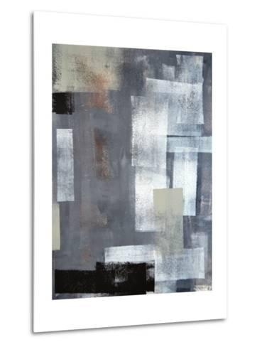 Green And Grey Abstract Art Painting-T30Gallery-Metal Print