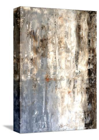 Brown And Grey Abstract Art Painting-T30Gallery-Stretched Canvas Print