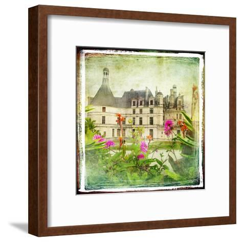 Chambord Castle -Retro Styled Picture-Maugli-l-Framed Art Print