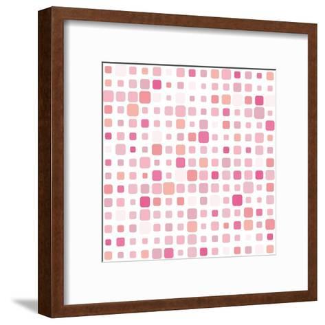 Pink Square Mosaic- SvetlanaR-Framed Art Print