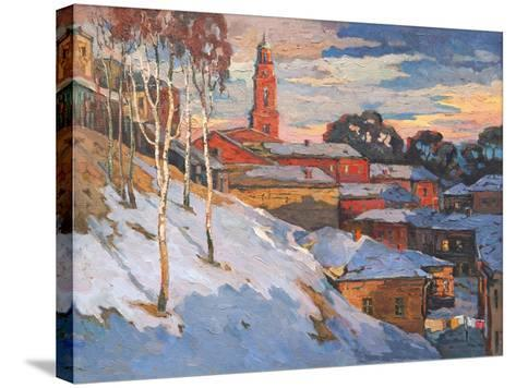 Kind On A Winter City, Oil On A Canvas-balaikin2009-Stretched Canvas Print