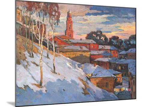 Kind On A Winter City, Oil On A Canvas-balaikin2009-Mounted Art Print