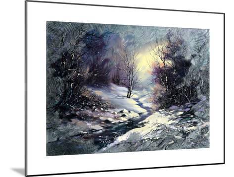 Landscape With Winter Wood Small River-balaikin2009-Mounted Art Print