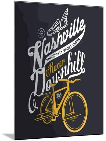 Illustration Sketch Bicycle With Type-studiohome-Mounted Art Print