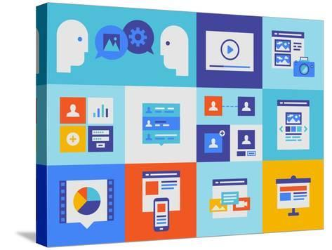 Web Presentation And Interface Icons-bloomua-Stretched Canvas Print