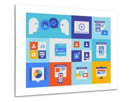 Web Presentation And Interface Icons-bloomua-Metal Print
