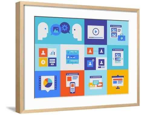 Web Presentation And Interface Icons-bloomua-Framed Art Print