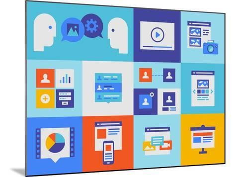 Web Presentation And Interface Icons-bloomua-Mounted Art Print