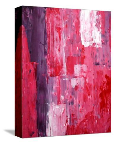 Pink And Purple Abstract Art Painting-T30Gallery-Stretched Canvas Print