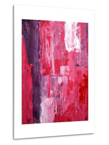 Pink And Purple Abstract Art Painting-T30Gallery-Metal Print