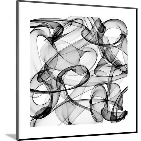 Abstract Black And White Background-alexkar08-Mounted Art Print