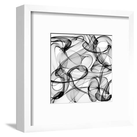 Abstract Black And White Background-alexkar08-Framed Art Print