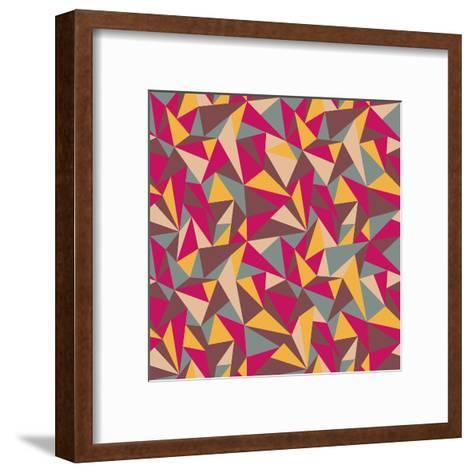 Abstract Geometric Colorful Pattern-SelenaMay-Framed Art Print