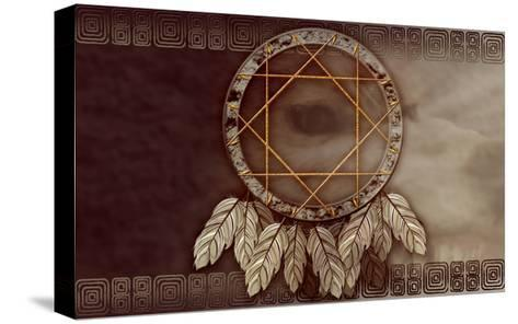 American Dreamcatcher With Wolf Eye-Sateda-Stretched Canvas Print