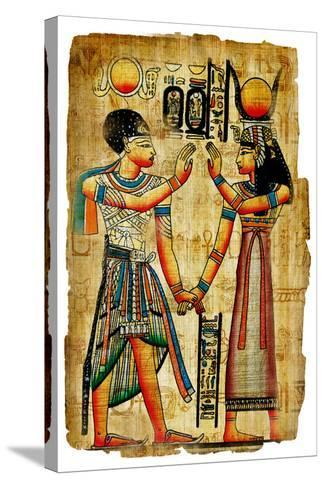 Ancient Egyptian Papyrus-Maugli-l-Stretched Canvas Print