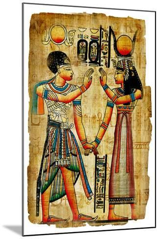 Ancient Egyptian Papyrus-Maugli-l-Mounted Art Print