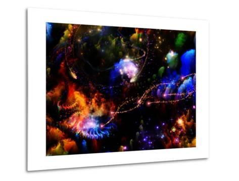 Depth Of Fractal Dreams-agsandrew-Metal Print