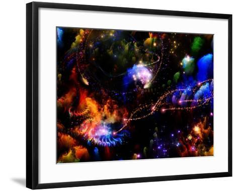 Depth Of Fractal Dreams-agsandrew-Framed Art Print
