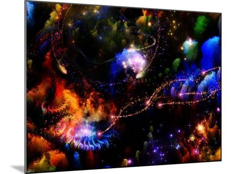 Depth Of Fractal Dreams-agsandrew-Mounted Art Print