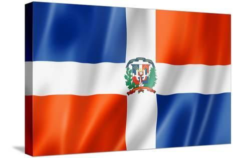 Dominican Republic Flag-daboost-Stretched Canvas Print