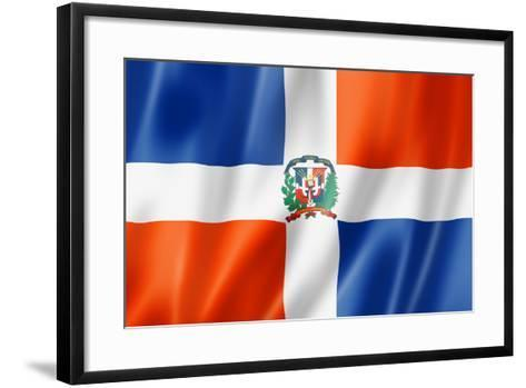 Dominican Republic Flag-daboost-Framed Art Print