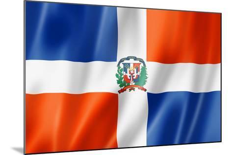 Dominican Republic Flag-daboost-Mounted Art Print