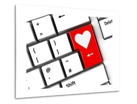 Computer Keyboard Love-Oakozhan-Metal Print