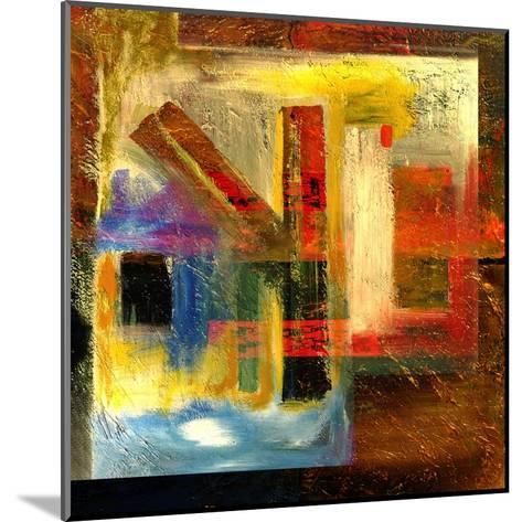 Abstract Oil Painting-Rinderart-Mounted Art Print