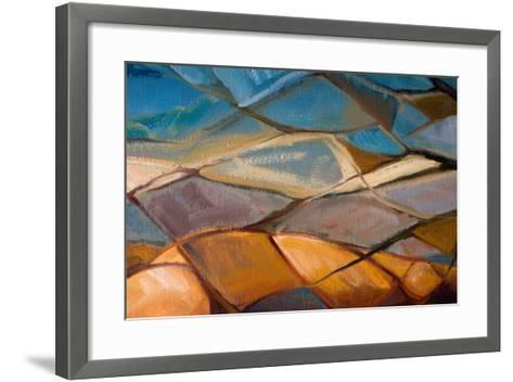 Abstract Oil Painting- Indric-Framed Art Print