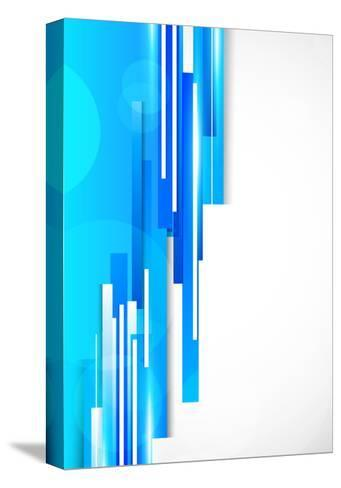Background With Blue Lines-Denchik-Stretched Canvas Print