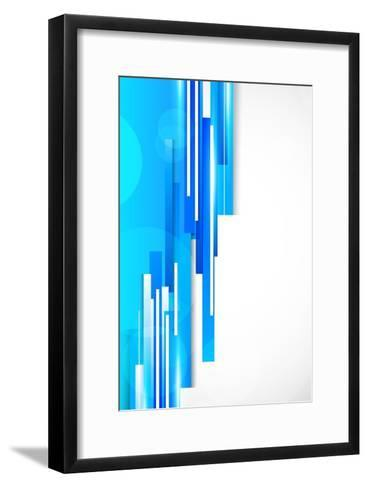 Background With Blue Lines-Denchik-Framed Art Print