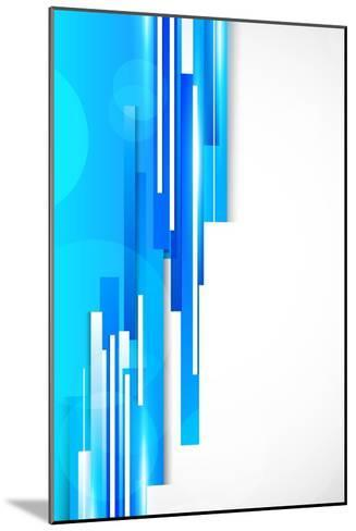 Background With Blue Lines-Denchik-Mounted Art Print