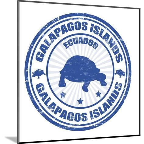 Galapagos Islands Stamp-radubalint-Mounted Art Print