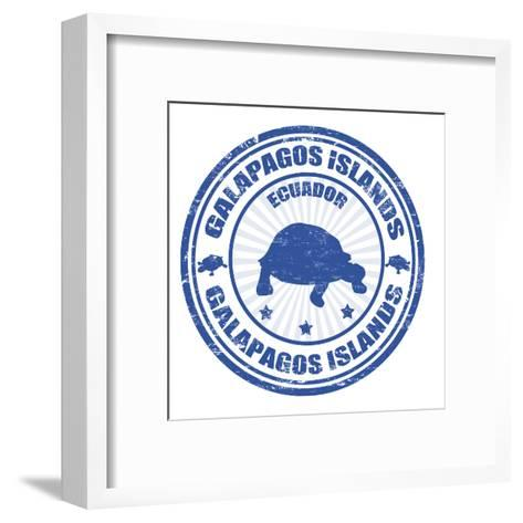Galapagos Islands Stamp-radubalint-Framed Art Print