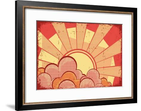 Cartoons Grunge Background-GeraKTV-Framed Art Print