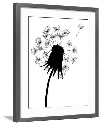 Dandelion Black And White- falonkoontz-Framed Art Print