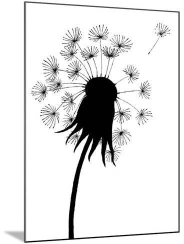 Dandelion Black And White- falonkoontz-Mounted Art Print