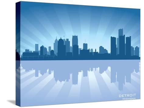 Detroit, Michigan Skyline-Yurkaimmortal-Stretched Canvas Print